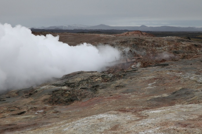 Reykjanes volcano at the site of last months steam explosion.