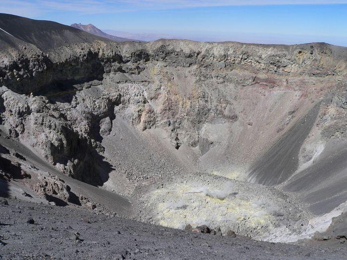 Misti crater