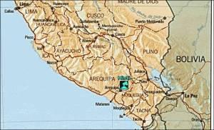 Southern Peru map