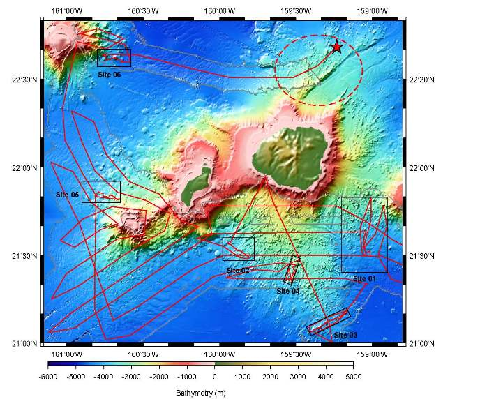 Kauai - Niihau Subsurface Map