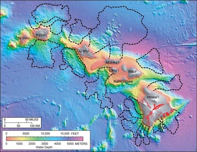 Hawaiian Island Flank Collapse Map