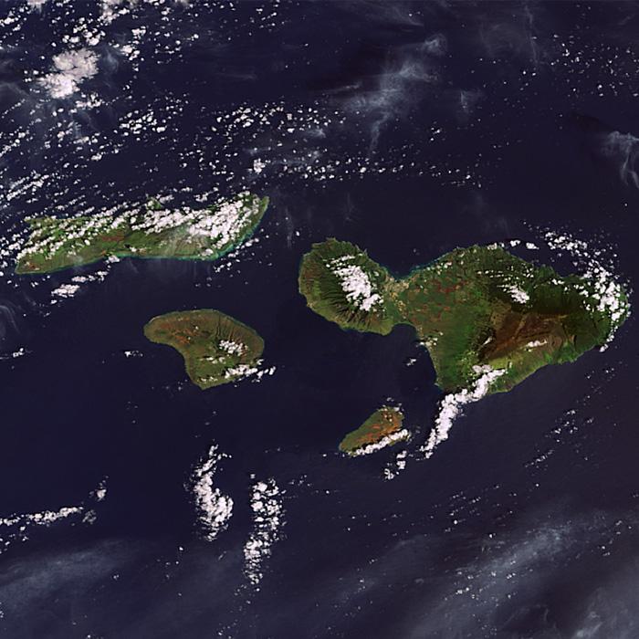 Maui Nui Landsat Photo