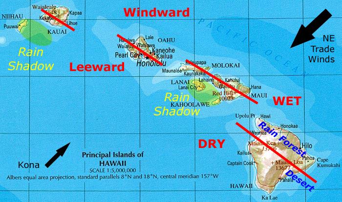 Rainfall Patterns of the Main Hawaiian Islands