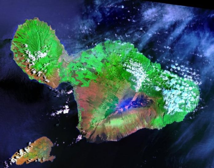 Landsat Photo of Maui