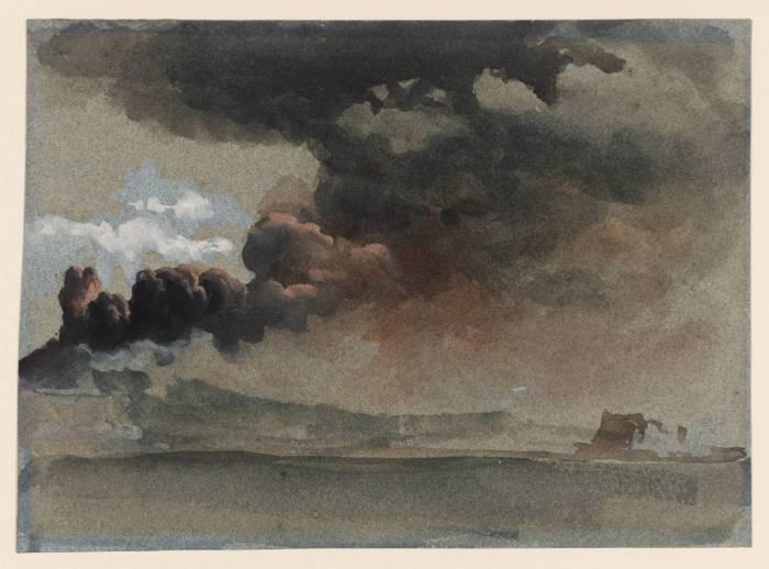 An Eruption of Mount Vesuvius. Clarkson Frederick Stanford. 1839.