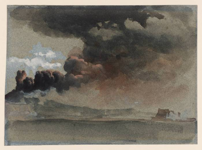 An Eruption of Mount Vesuvius. Clarkson Frederick Stanford. 1839.
