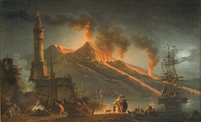 Eruption of Mount Vesuvius by Charles Francois Lacroix de Marseilles 1762