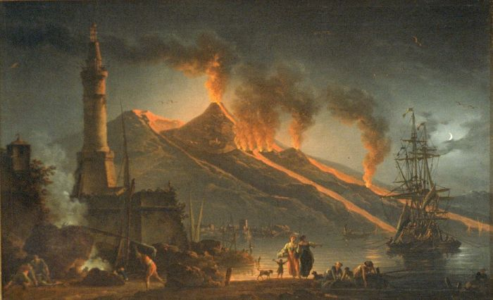 Eruption of Mount Vesuvius by Charles Francois Lacroix de Marseilles 1762