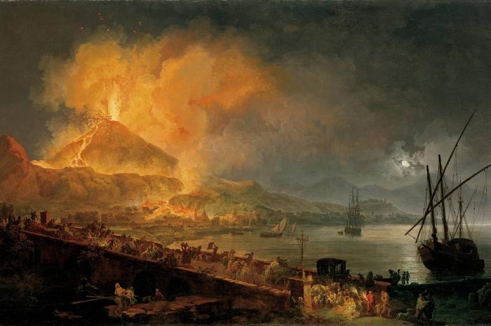 Eruption of Mount Vesuvius by Pierre Jaques Volaire 1777