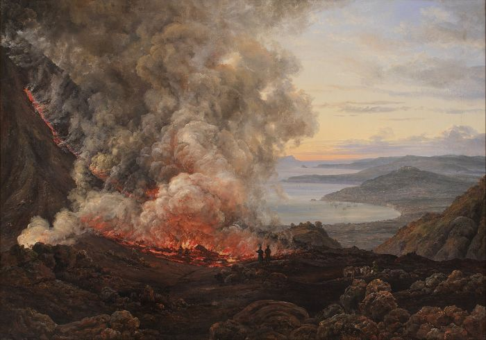Eruption of the Volcano Vesuvius. Johan cChritian Dahl. 1826.