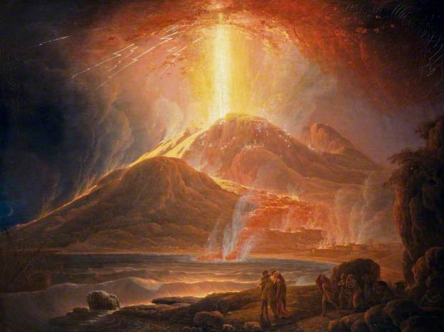 Mount Vesuvius in Eruption by Jacob More 1780