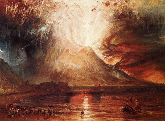 Mount Vesuvius in Eruption.  JMW Turner 1817