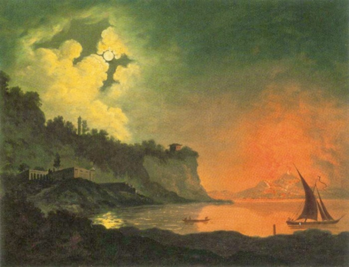 Vesuvius with a View Over the Islands in the Bay of Naples by Joseph Wright c. 1778- 1780