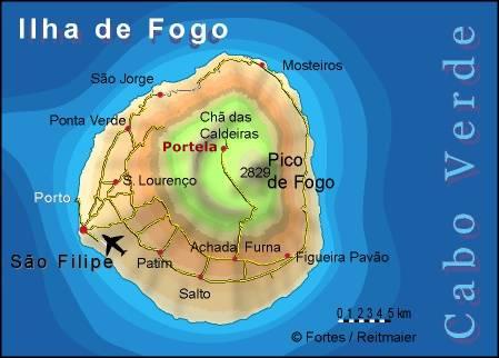 Fogo Island. Kartographie: Lucete Fortes/Pitt Reitmaier Design: Pitt Reitmaier