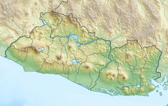Relief map of El Salvador - http://en.wikipedia.org/wiki/Izalco_%28volcano%29