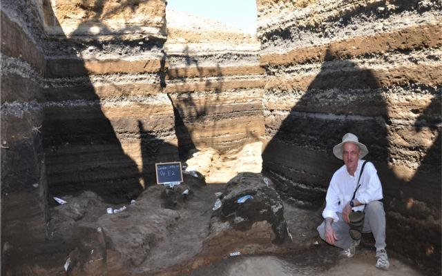 Excavation of Mayan settlement of Ceren.  Dr. Sheets pictured.  Note layered ash, pumice and pyroclastic flows in the background - http://www.colorado.edu/anthropology/gradstudy/joya-de-ceren-el-salvador