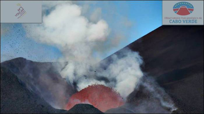 Fogo. Lava bubble just before fountaining (courtesy of INVOLCAN-OVCV)