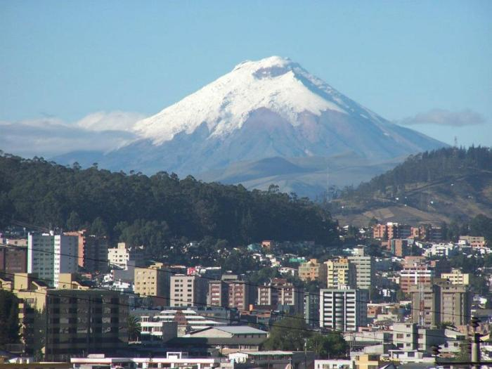 For those who do not understand how close Quito is and how accesible from Cotopaxi and image tells more than a thousand words.
